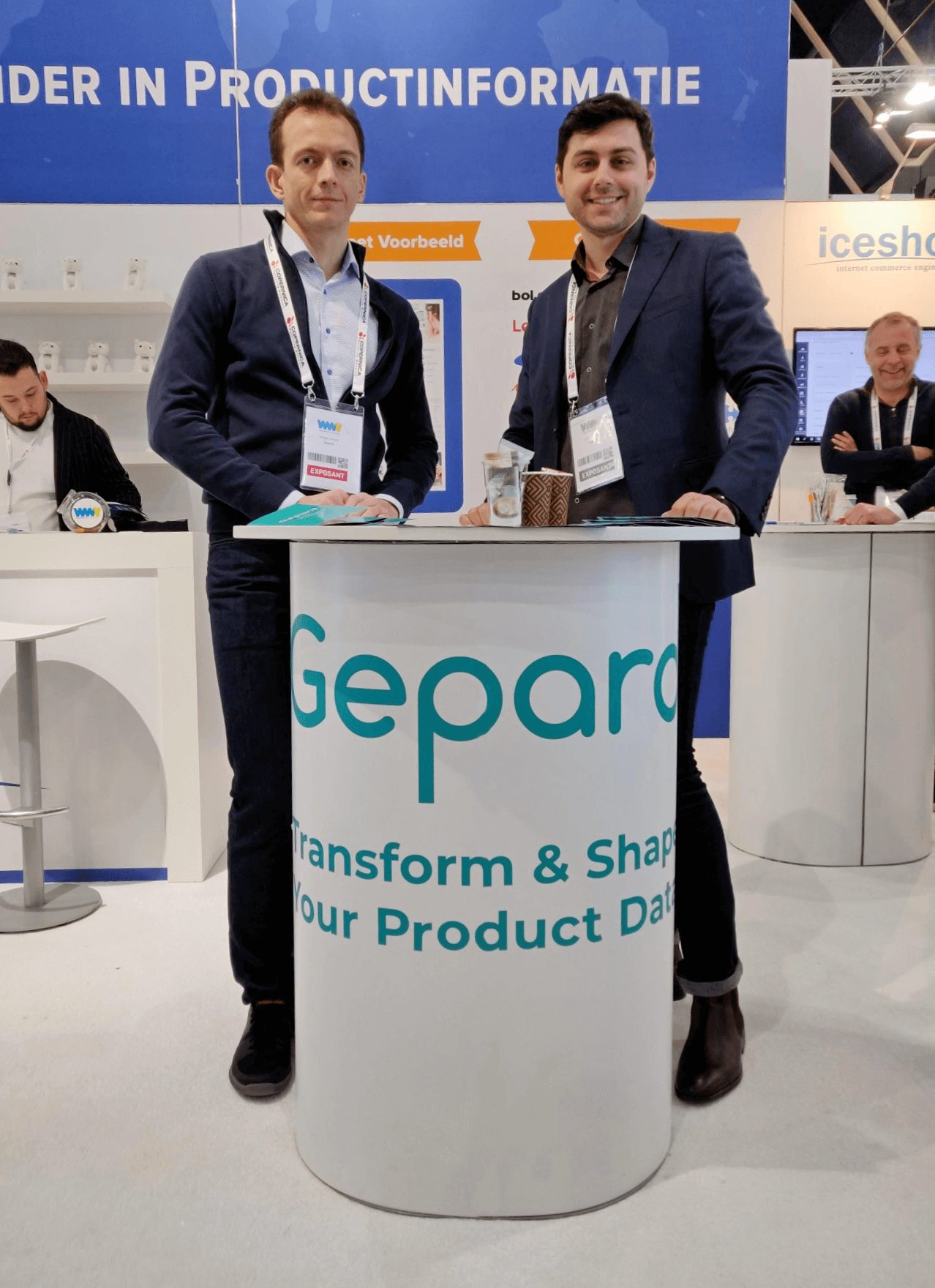 Sergey Shvets, CEO and founder at Gepard and Cyril Dorogan, Senior Partnership Manager at Gepard. Webwinkel Vakdagen, Netherlands, 2019