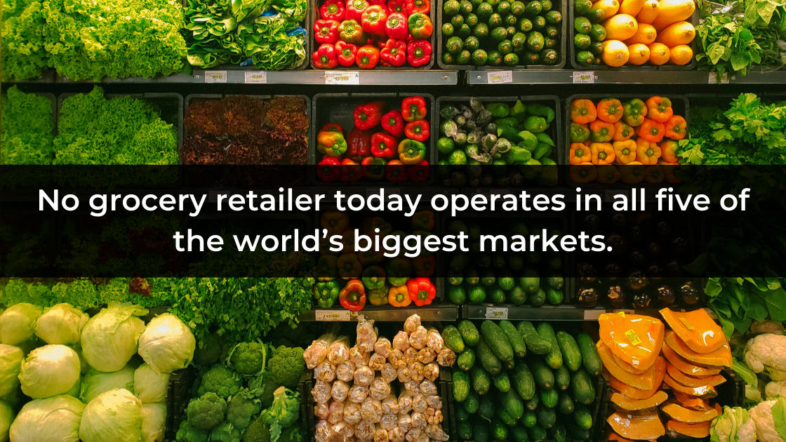 There is no grocery retailer in the world, which operates on 5 world markets